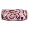 Glass Lamp Bead 20/8mm Roller Transparent Light Amethyst/Bronze